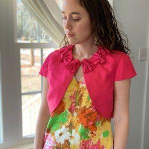 Jessica Howard Bright Pink Shrug, Size 8P